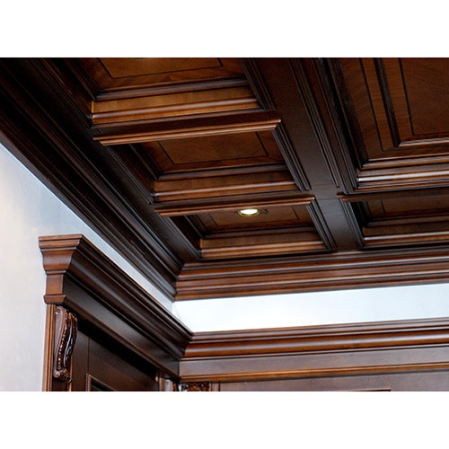 Wooden beam ceiling